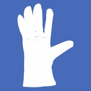White Bleached Interlock Fabric Gloves